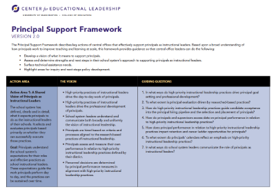 Principal Support Framework Version 2.0
