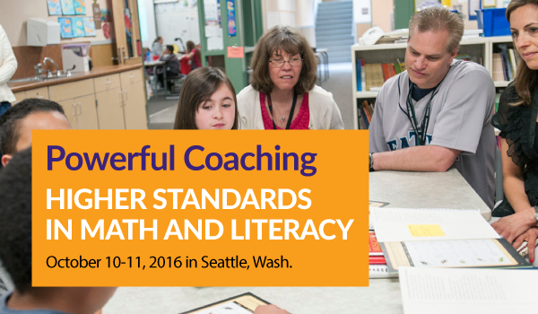 New Institute Helps Coaches Support Higher Standards in Math and Literacy