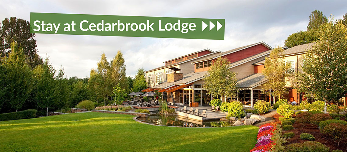 Stay at Cedarbrook Lodge